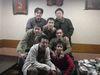 すし屋にての祝賀会のメンバー