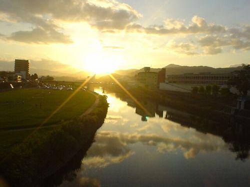 延岡市内の五ヶ瀬川